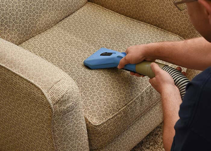 Truck mount upholstery cleaning
